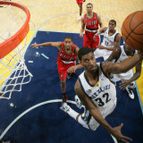 Portland Trail Blazers v Memphis Grizzlies: O.J. Mayo and Andre Miller Photographic Print by Joe Murphy