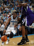Sacramento Kings v New Orleans Hornets: Chris Paul and Jason Thompson Photographic Print by Layne Murdoch