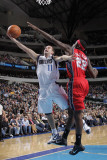 New Jersey Nets v Dallas Mavericks: Jose Juan Barea and Anthony Morrow Photographic Print by Glenn James