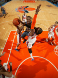 Charlotte Bobcats v New York Knicks: Gerald Wallace and Ronny Turiaf Photographic Print by Nathaniel S. Butler
