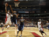 Denver Nuggets v Toronto Raptors: Jerryd Bayless and Aron Afflalo Photographic Print by Ron Turenne