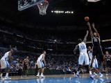 San Antonio Spurs v New Orleans Hornets: Tim Duncan and Emeka Okafor Photographic Print by Layne Murdoch