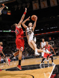 Chicago Bulls v San Antonio Spurs: Manu Ginobili and Joakim Noah Photographic Print by D. Clarke Evans