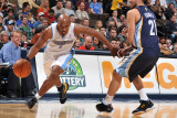 Memphis Grizzlies v Denver Nuggets: Chauncey Billups and Rudy Gay Photographic Print by Garrett Ellwood