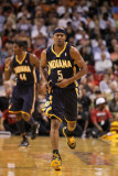 Indiana Pacers v Miami Heat: T.J. Ford Photographic Print by Mike Ehrmann
