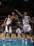 Milwaukee Bucks v Dallas Mavericks: Chris Douglas-Roberts and Dirk Nowitzki Photographic Print by Danny Bollinger