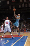 New Orleans Hornets v Detroit Pistons: David West and Charlie Villanueva Fotografie-Druck von Allen Einstein