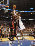 Miami Heat v Orlando Magic: Dwight Howard and Joel Anthony Photographic Print by Mike Ehrmann