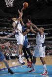 Minnesota Timberwolves v Dallas Mavericks: Corey Brewer, Tyson Chandler and Caron Butler Photographic Print by Glenn James