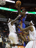 New York Knicks v Charlotte Bobcats: Amare Stoudemire and Stephen Jackson Photographic Print by Streeter Lecka