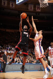 Miami Heat v New York Knicks: LeBron James and Landry Fields Photographic Print by Nathaniel S. Butler