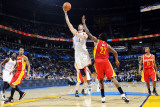 Houston Rockets v Oklahoma City Thunder: Byron Mullens and Jordan Hill Photographic Print by Larry W. Smith