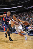 Atlanta Hawks v New Jersey Nets: Sasha Vujacic and Maurice Evans Photographic Print by David Dow