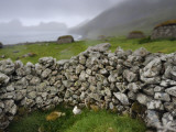 Drystone Wall Remnants of Saint Kilda's Main Settlement Photographic Print by Jim Richardson