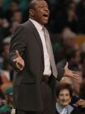 New Jersey Nets v Boston Celtics: Doc Rivers Photographic Print by  Elsa