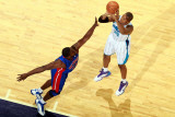 Detroit Pistons v New Orleans Hornets: David West and Jason Maxiell Fotografie-Druck von Chris