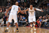 Los Angeles Clippers v Denver Nuggets: Chauncey Billups and J.R. Smith Photographic Print by Garrett Ellwood