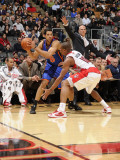 New York Knicks v Toronto Raptors: Landry Fields and DeMar DeRozan Photographic Print by Ron Turenne