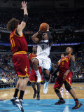Cleveland Cavaliers  v New Orleans Hornets: Chris Paul and Anderson Varejao Photographic Print by Layne Murdoch