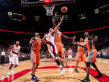 Phoenix Suns v Portland Trail Blazers: Jason Richardson and Brandon Roy Photographic Print by Sam Forencich