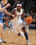 Minnesota Timberwolves v Denver Nuggets: Ty Lawson and Luke Ridnour Photographic Print by Garrett Ellwood
