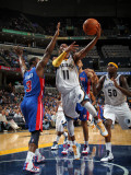 Detroit Pistons v Memphis Grizzlies: Mike Conley and Rodney Stuckey Photographic Print by Joe Murphy