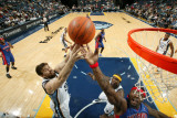 Detroit Pistons v Memphis Grizzlies: Marc Gasol and Ben Wallace Photographic Print by Joe Murphy