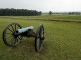 Civil War Cannon in Front of a Field at Gettysburg Photographic Print by Todd Gipstein