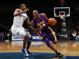 Los Angeles Lakers v Washington Wizards: Kobe Bryant and Gilbert Arenas Photographic Print by Ned Dishman