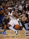 Golden State Warriors v Dallas Mavericks: Jason Terry and Dorrell Wright Photographic Print by Danny Bollinger