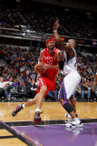 Houston Rockets v Sacramento Kings: Brad Miller and Carl Landry Photographic Print by Rocky Widner