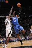 Orlando Magic v San Antonio Spurs: Dwight Howard and Antonio McDyess Photographic Print by D. Clarke Evans