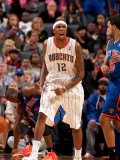 New York Knicks v Charlotte Bobcats: Tyrus Thomas Photographic Print by Kent Smith