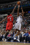 Portland Trail Blazers v Dallas Mavericks: Caron Butler and Wesley Matthews Photographic Print by Danny Bollinger