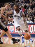 Utah Jazz v Dallas Mavericks: DeShawn Stevenson and Andrei Kirilenko Photographic Print by Glenn James