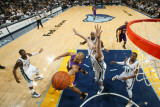 Los Angeles Lakers v Memphis Grizzlies: Derek Fisher and Marc Gasol Photographic Print by Joe Murphy