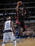 Miami Heat v Dallas Mavericks: Dwyane Wade and Jason Terry Photographic Print by Glenn James