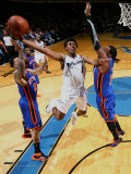New York Knicks v Washington Wizards: Nick Young, Wilson Chandler and Ronny Turiaf Photographic Print by Ned Dishman