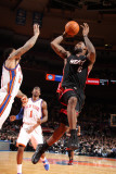 Miami Heat v New York Knicks: LeBron James, Wilson Chandler and Amar'e Stoudemire Photographic Print by Nathaniel S. Butler