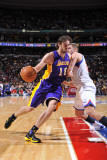 Los Angeles Lakers v Philadelphia 76ers: Pau Gasol and Spencer Hawes Photographic Print by David Dow