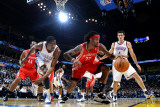 Houston Rockets v Oklahoma City Thunder: Kevin Durant and Jordan Hill Photographic Print by Larry W. Smith