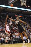 Indiana Pacers v Miami Heat: Dwyane Wade and Brandon Rush Photographie par Mike Ehrmann