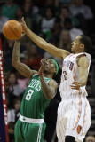 Boston Celtics v Charlotte Bobcats: Marquis Daniels and Shaun Livingston Photographic Print by  Streeter