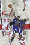 Sacramento Kings v Houston Rockets: DeMarcus Cousins and Chuck Hayes Photographic Print by Bill Baptist