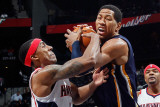 Indiana Pacers v Atlanta Hawks: Jeff Teague and Danny Granger Photographic Print by Kevin Cox
