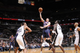 Atlanta Hawks v San Antonio Spurs: Mike Bibby, Tim Duncan and Antonio McDyess Photographic Print by D. Clarke Evans
