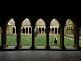 A Child Runs Through the Grass in the Cloister at Iona Abbey Photographic Print by Jim Richardson