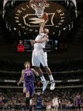 Phoenix Suns v Dallas Mavericks: Caron Butler and Robin Lopez Photographic Print by Glenn James