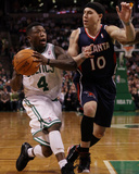 Atlanta Hawks v Boston Celtics: Nate Robinson and Mike Bibby Photographic Print by  Elsa