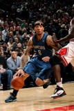 Minnesota Timberwolves v Chicago Bulls: Michael Beasley and Luol Deng Photographic Print by Ray Amati